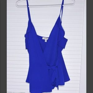 Monteau wrap tank top in Royal Blue